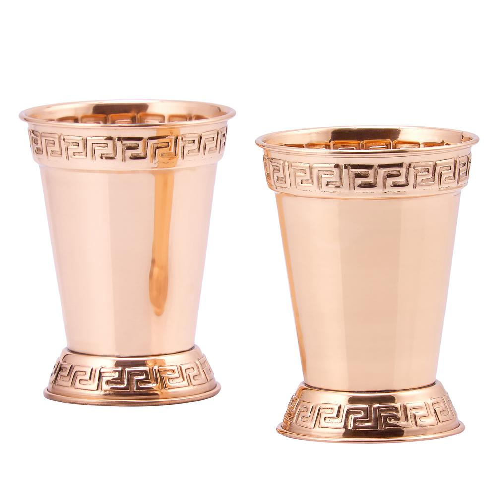 Old Dutch 12 oz. Mint Julep Cup in Solid Copper (Set of 2)