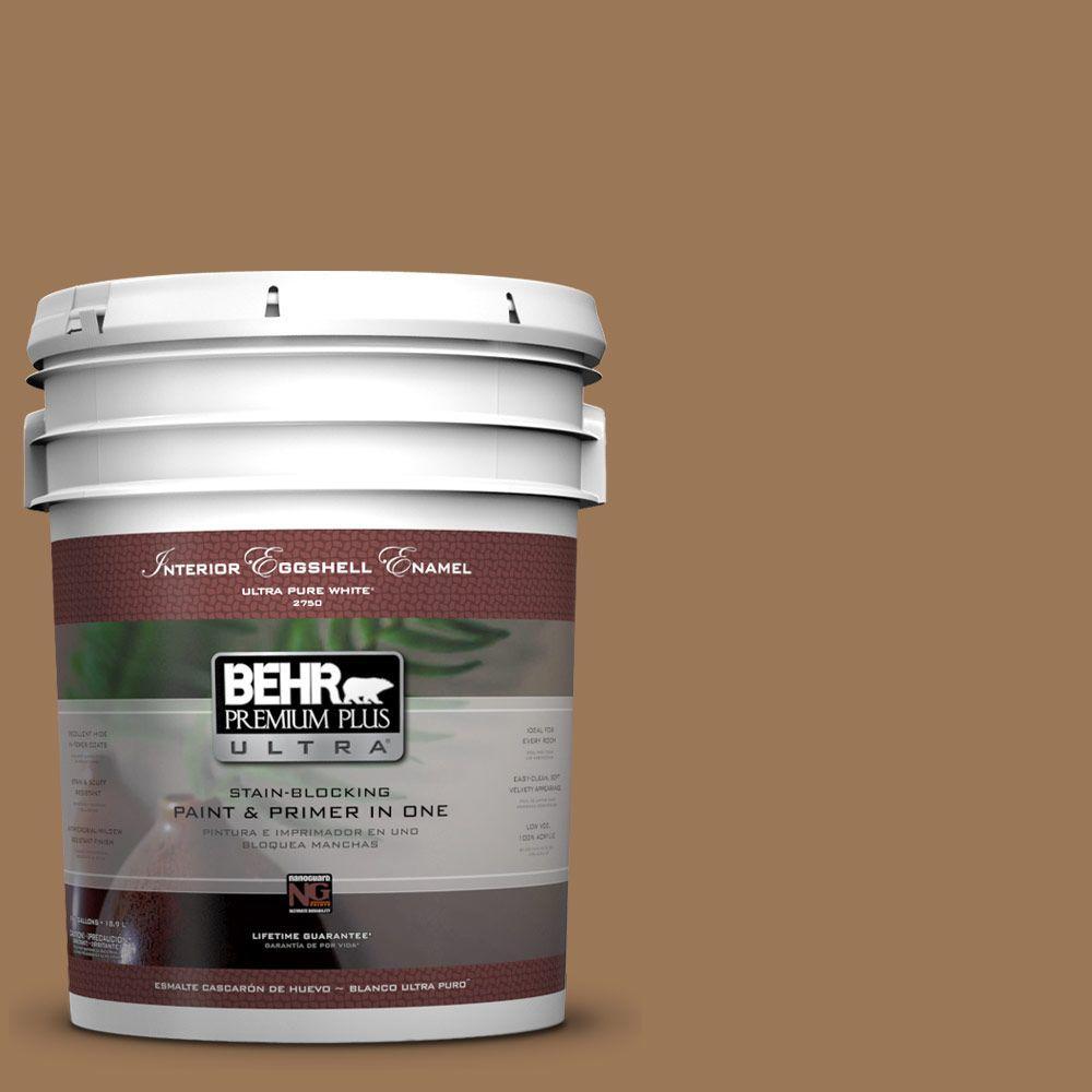 BEHR Premium Plus Ultra 5-gal. #PPU4-2 Coco Rum Eggshell Enamel Interior Paint