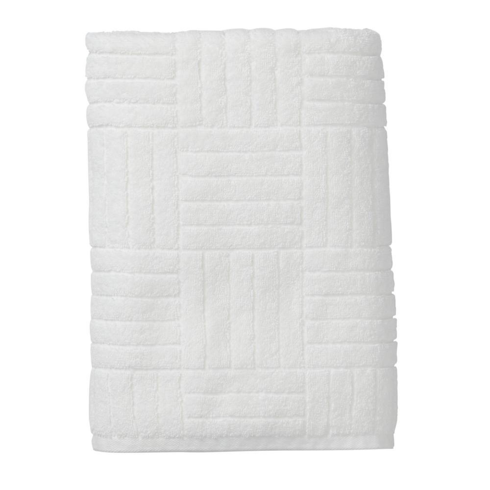 Interlock White Egyptian Cotton Hand Towel