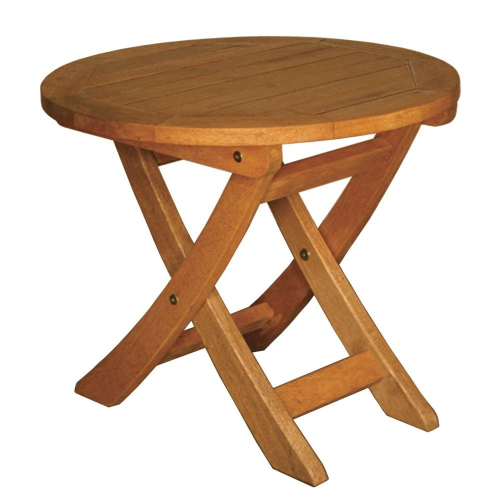 Blue Star Group Terrace Mates Aspen Folding Round Patio End Table