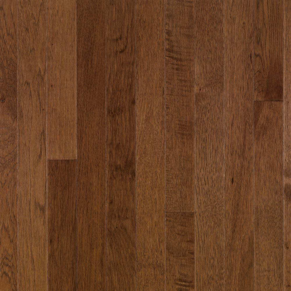 Bruce plymouth brown hickory 3 4 in thick x 3 1 4 in for Solid hardwood flooring