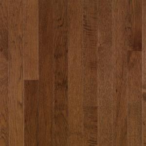 Bruce plymouth brown hickory 3 4 in thick x 3 1 4 in for Hardwood flooring zimbabwe