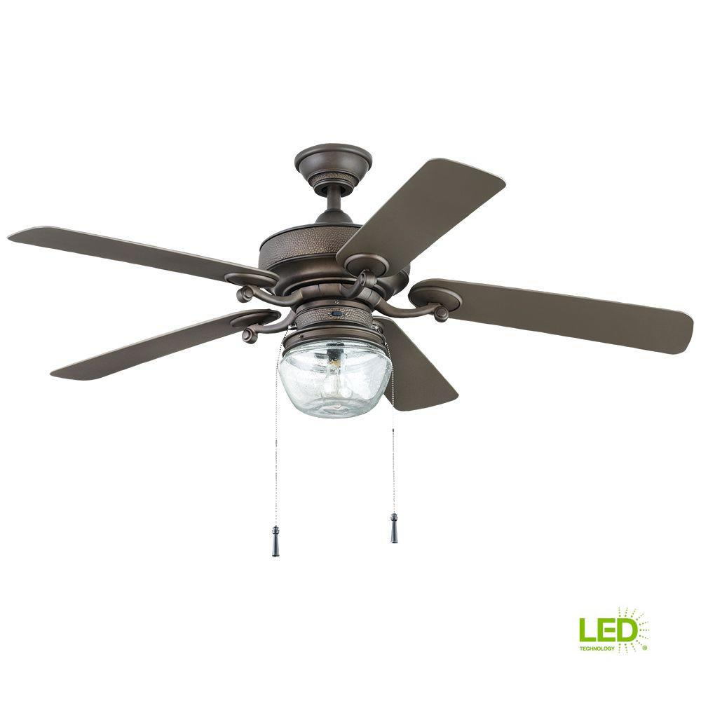 Home Decorators Collection Bromley 52 In Led Indoor Outdoor Bronze Ceiling Fan With Light