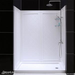 Dreamline Slimline 34 In X 60 In Single Threshold Shower