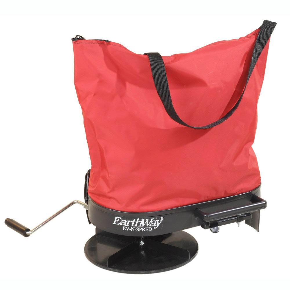 Hand Crank 20 lbs. Nylon Bag Fertilizer Seed Salt Spreader