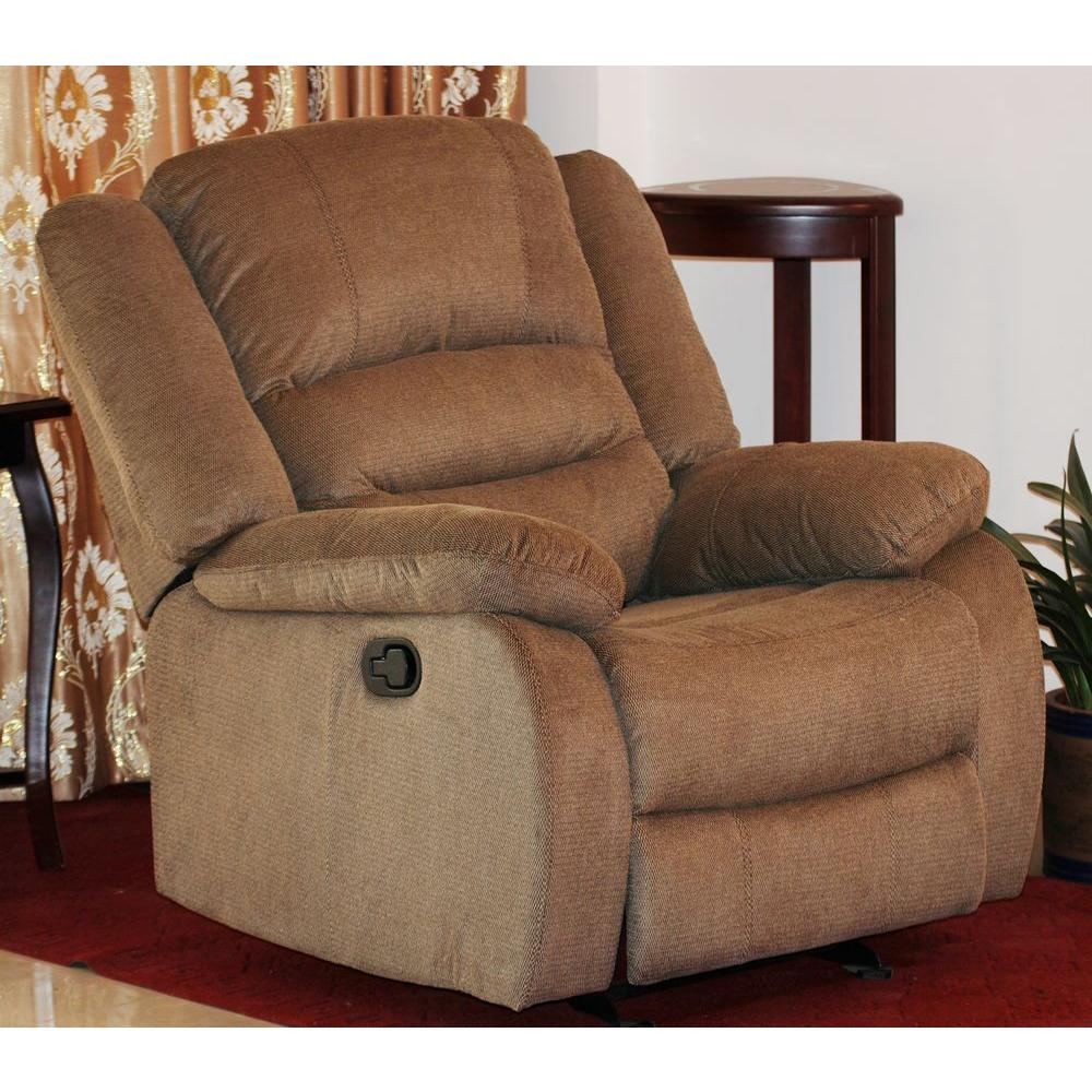 Gentil Nadia Contemporary Microfiber Recliner Chair, Dark Brown