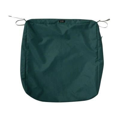 Ravenna 25 in. W x 25 in. D x 5 in. H Square Patio Seat Cushion Slip Cover in Mallard Green