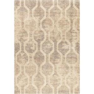 Orian Rugs Linked Up Ivory Geo Shag 5 Ft X 8 Ft Indoor