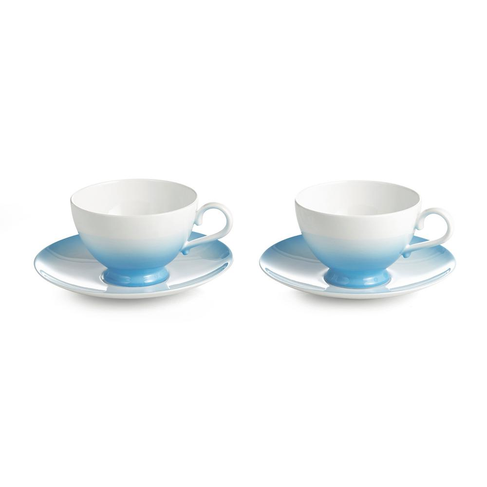 Auratic Aladdin Blue Cup And Saucer (Set Of 2)-15-00329