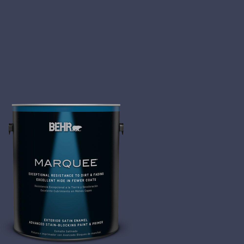 5 gal. #T16-10 Blue Vortex Satin Enamel Exterior Paint