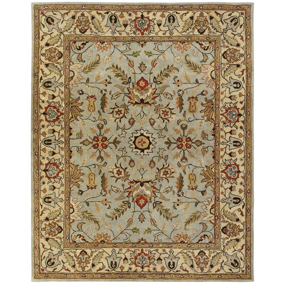kalaty empire light blue gold 9 ft x 12 ft area rug em 288 912 the home depot. Black Bedroom Furniture Sets. Home Design Ideas