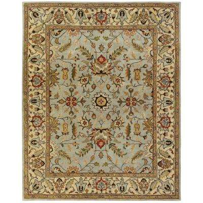 Empire Light Blue/Gold 9 ft. x 12 ft. Area Rug