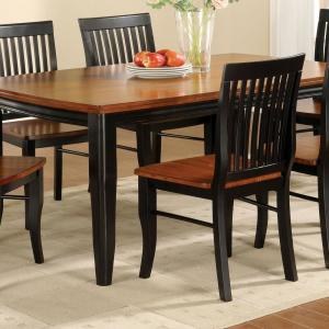 sports shoes 0d598 97d84 Earlham I Antique Oak and Black Wood Dining Chair (Set of 2)