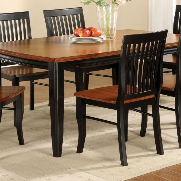 Black Wood Dining Chair Set