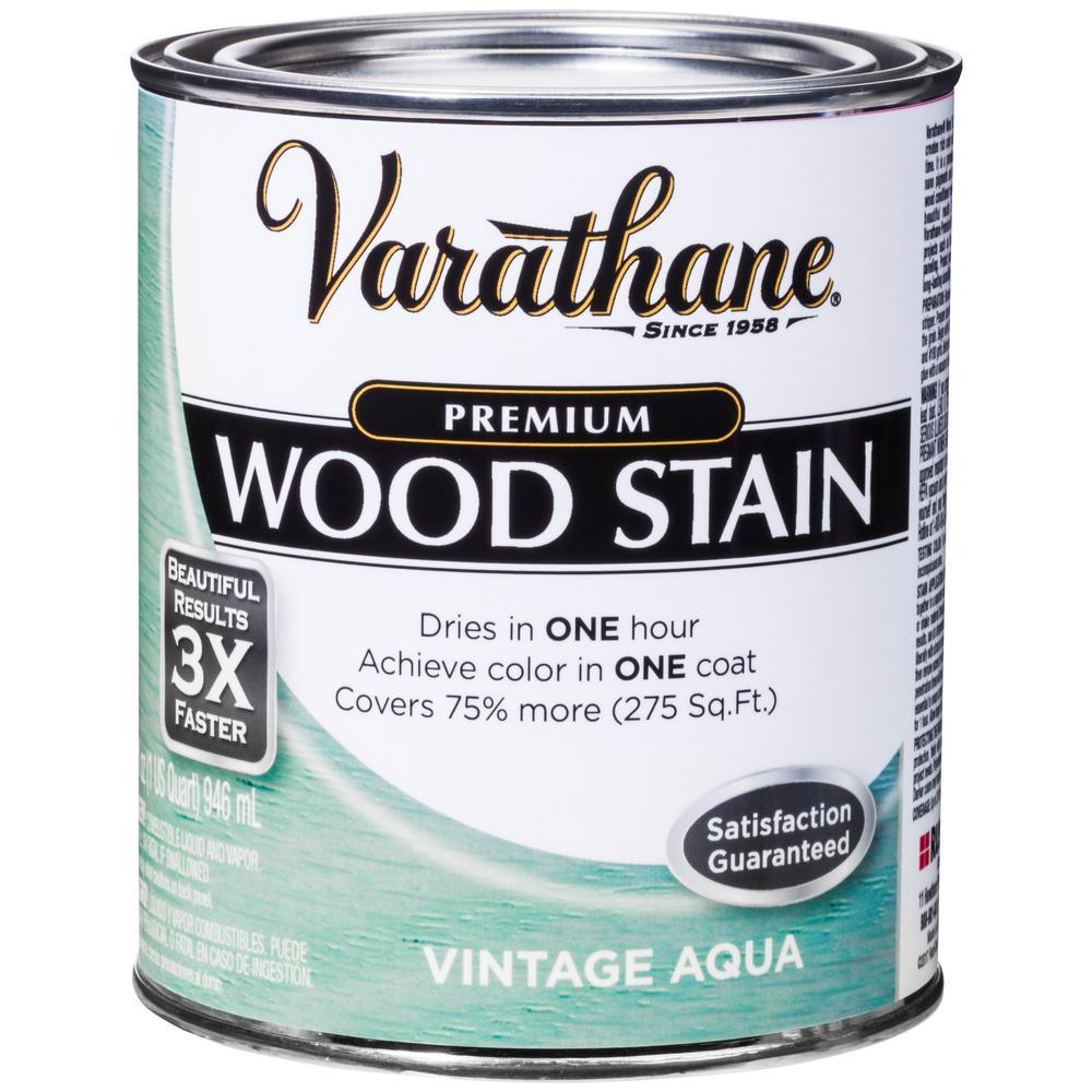 Varathane 1 Qt Vintage Aqua Premium Fast Dry Interior