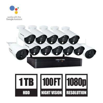20-Channel 1080p HD Hybrid Wired + Wireless 1TB DVR Security Surveillance System with 10-Wired and 2-Wireless Cameras