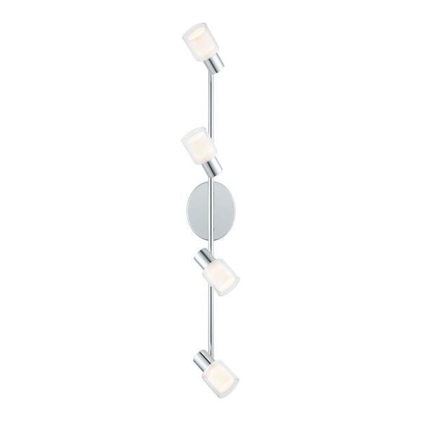 Salti 25.20 in. Chrome LED Track Lighting Kit with Frosted/Clear Glass Shades