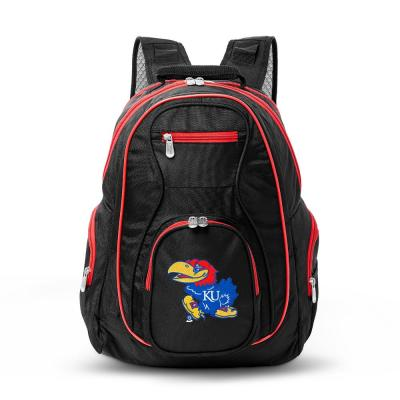 NCAA Kansas Jayhawks 19 in. Black Trim Color Laptop Backpack