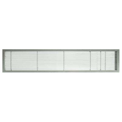 AG10 Series 4 in. x 48 in. Solid Aluminum Fixed Bar Supply/Return Air Vent Grille, Brushed Satin with Door