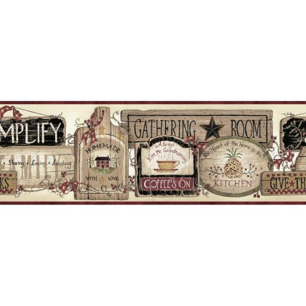 Alfred Gathering Room Signs Wallpaper Border