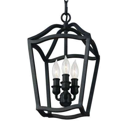 Yarmouth 3-Light Antique Forged Iron Hall Fixture