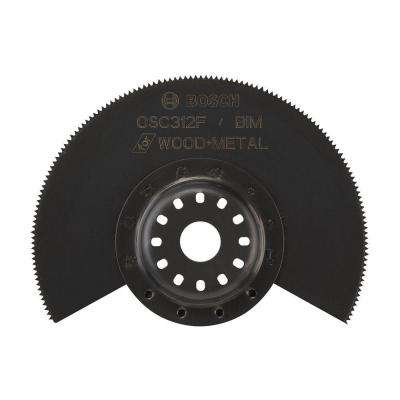 3-1/2 in. x 7/8 in. Bi-Metal Flush Cut Oscillating Tool Blade for Cutting Drywall and Wood