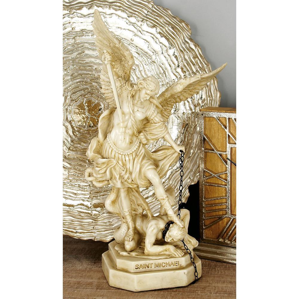 Polystone Saint Michael Sculpture by
