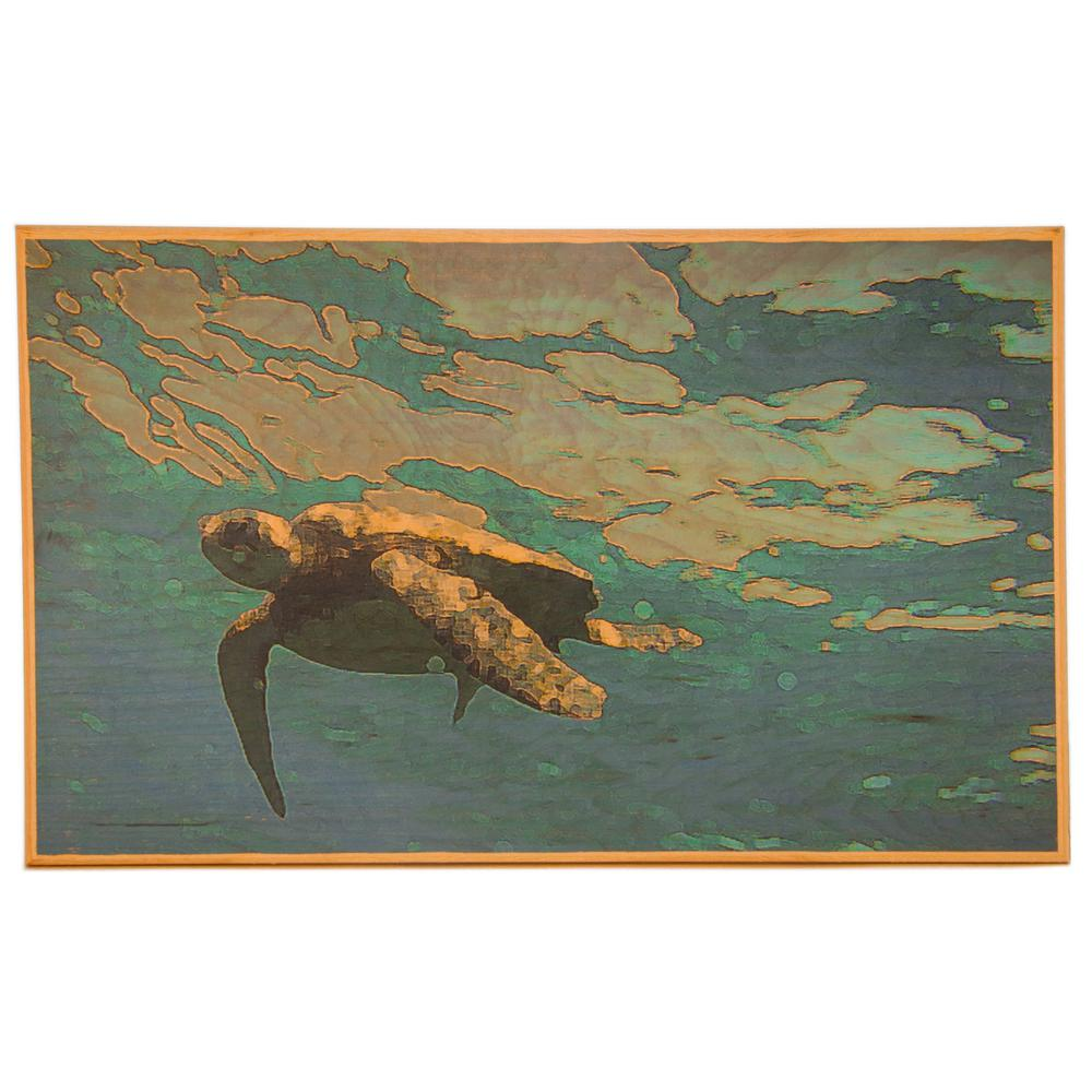 Butler Art and Design Beautiful 24 in. x 20 in. Wall Art with Sea Turtle Art., Full Color Beautiful 24 in. x 20 in. Wall Art with Sea Turtle art. The Sea Turtle art is a classic art piece. This Wall Art design is a great indoor decor art piece for any room in the house. Wall Art includes hanging hardware. Color: Full Color.
