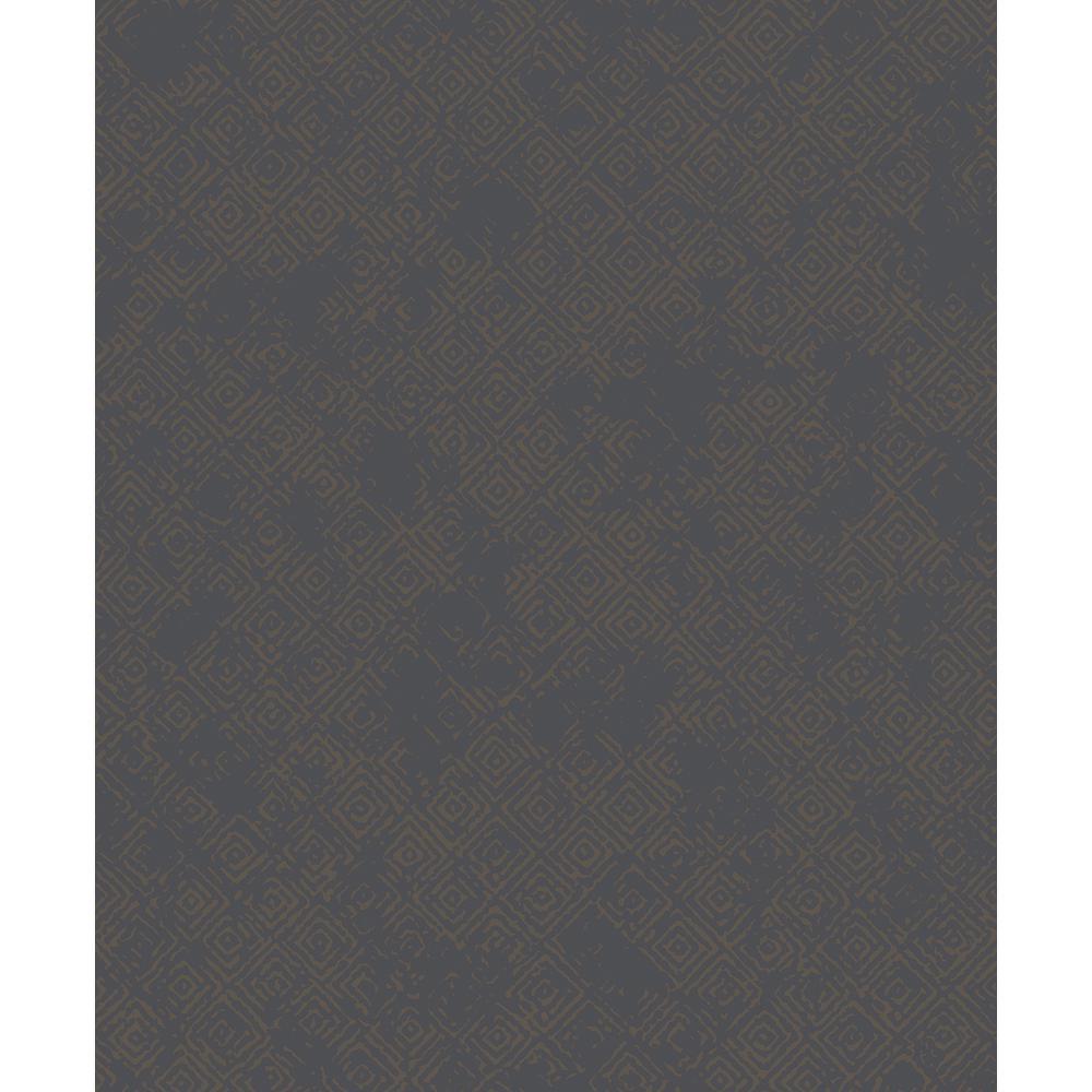 57.8 sq. ft. Thompson Bronze Key Wallpaper