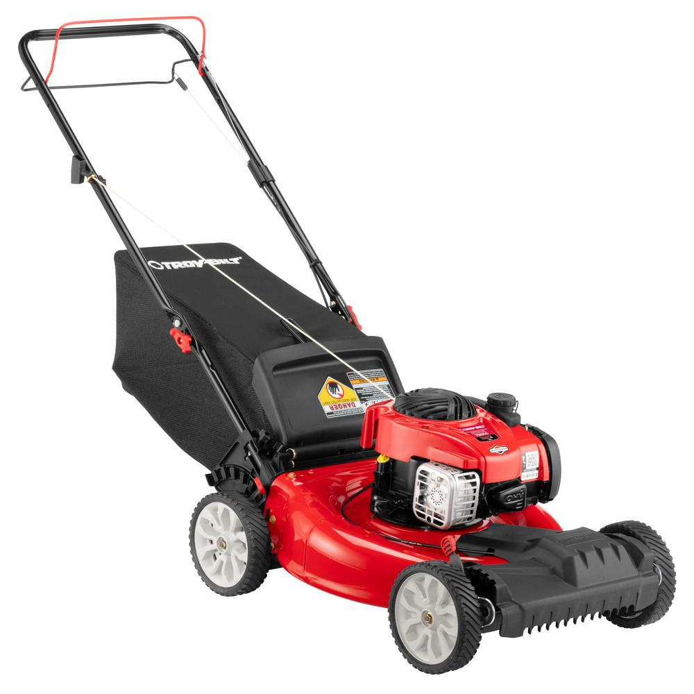 21 in. 140 cc 550e Series Briggs & Stratton Gas Walk Behind Self Propelled Lawn Mower w/ 2-in-1 TriAction Cutting System