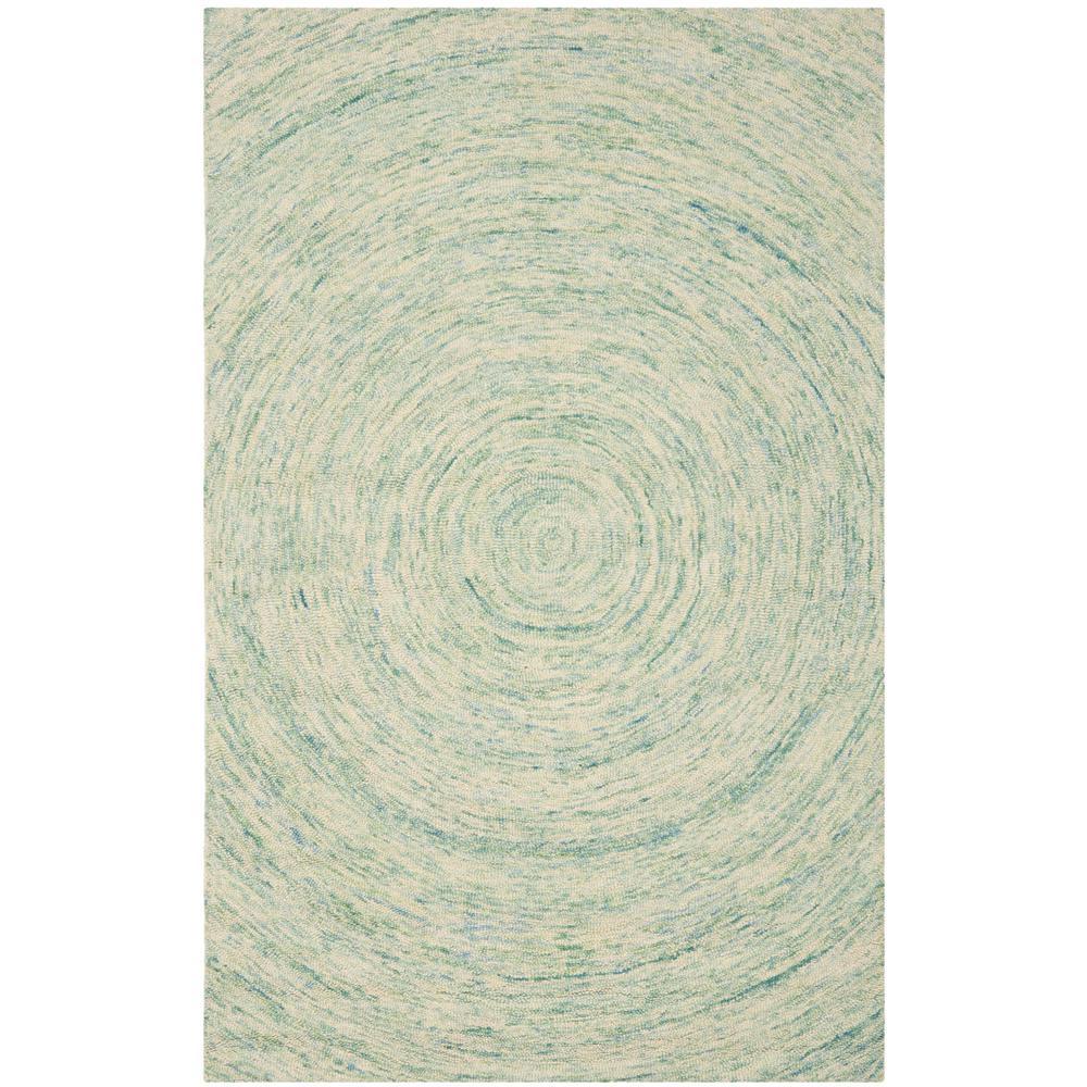 Ikat Ivory/Blue 6 ft. x 9 ft. Area Rug