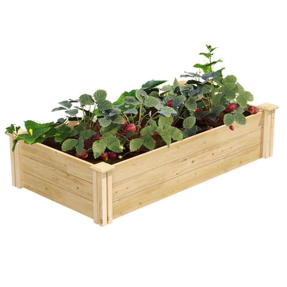 2 ft. x 4 ft. x 10.5 in. Original Cedar Raised Garden Bed