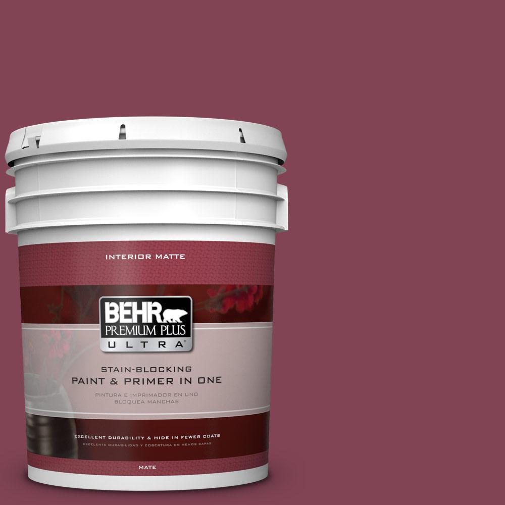 BEHR Premium Plus Ultra 5 gal. #110D-6 Haunting Melody Flat/Matte Interior Paint