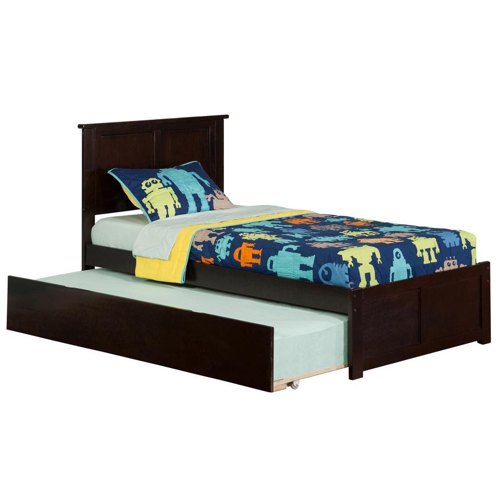 Atlantic Furniture Madison Espresso Twin Platform Bed With Flat
