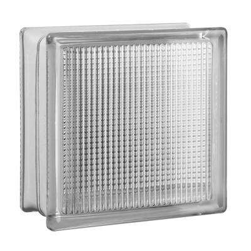 7.75 in. x 7.75 in. x 3.875 in. Light Difusing Pattern Glass Block (8-Pack)