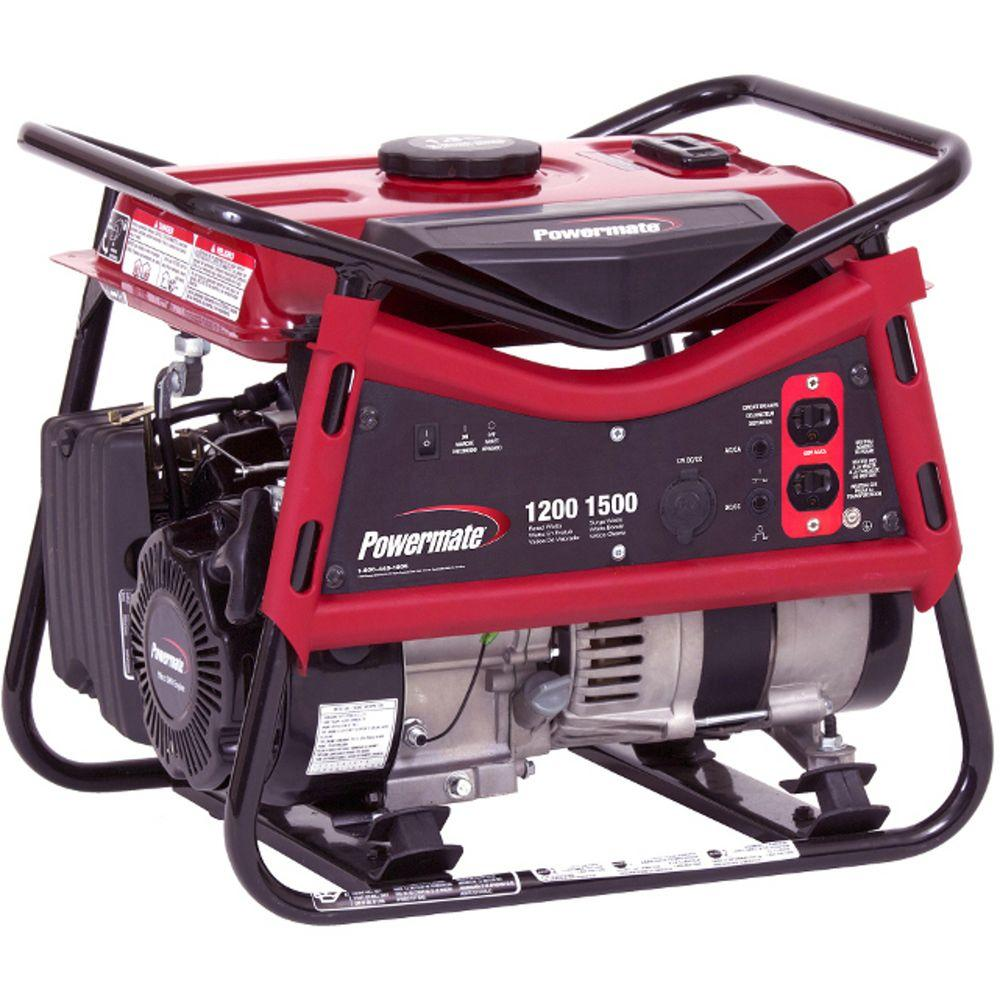 Powermate 1,200-Watt Gasoline Powered Portable Generator-DISCONTINUED