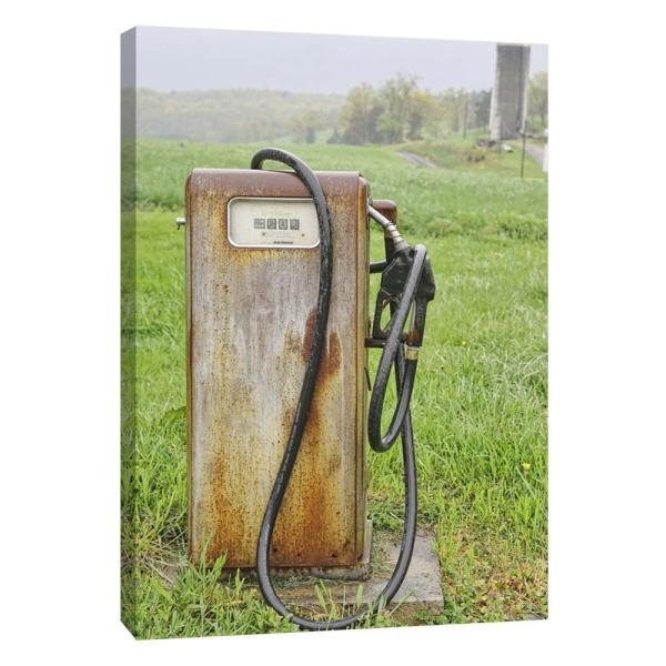 12 in  x 10 in  ''Vintage Gas Pump '' Printed Canvas Wall Art