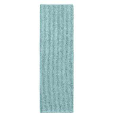 Sheridan Sea Foam 22 in. x 60 in. Washable Bathroom Accent Rug
