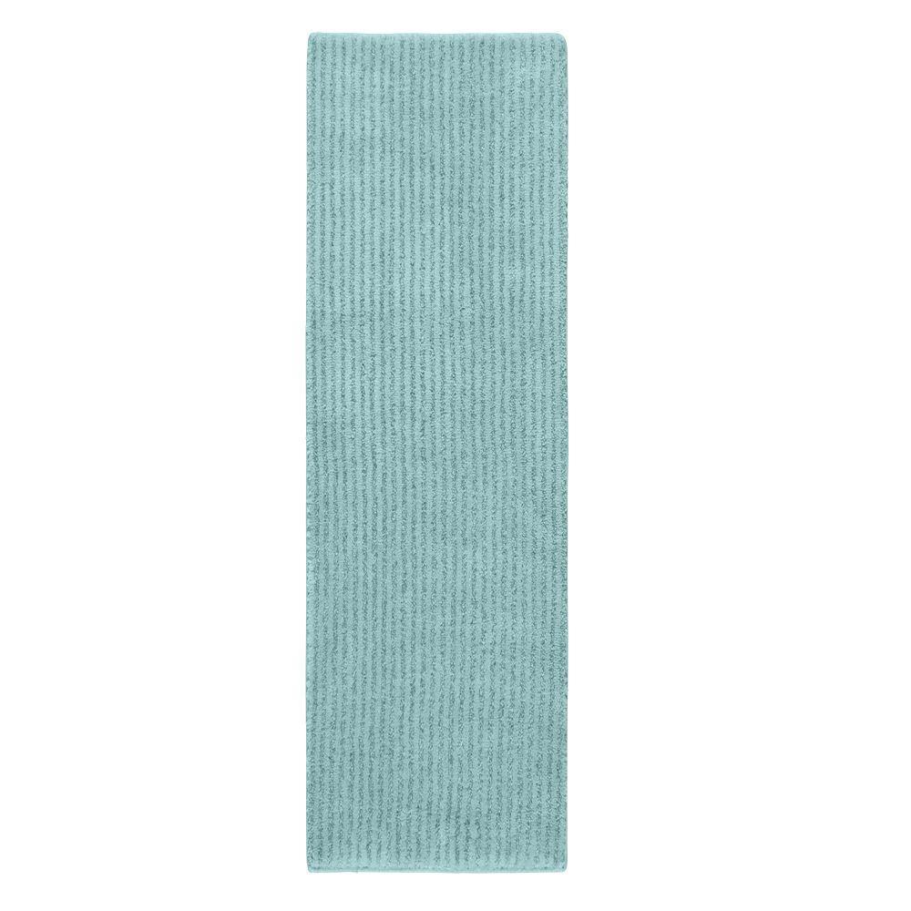 Sheridan Sea Foam 22 in. x 60 in. Washable Bathroom Accent Rug
