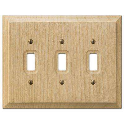 Cabin 3 Toggle Wall Plate - Unfinished Alder Wood