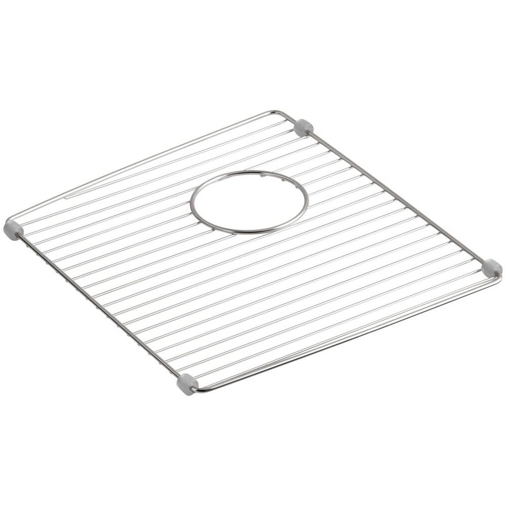 KOHLER Brookfield 14 7/8 In. X 12 7/8 In. Sink Bowl Rack For K 5846  Brookfield Kitchen Sink In Stainless Steel K 6197 ST   The Home Depot
