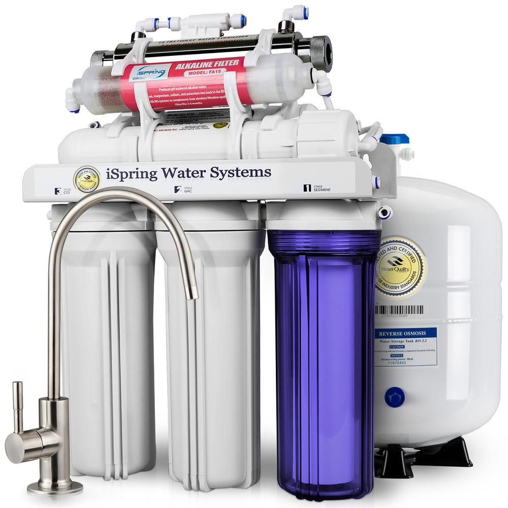 DELUXE UnderSink 7-Stage Reverse Osmosis Drinking Water Filtration System with