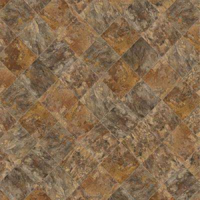 Trudy Brown 13.2 ft. Wide x Your Choice Length Residential Sheet Vinyl Flooring