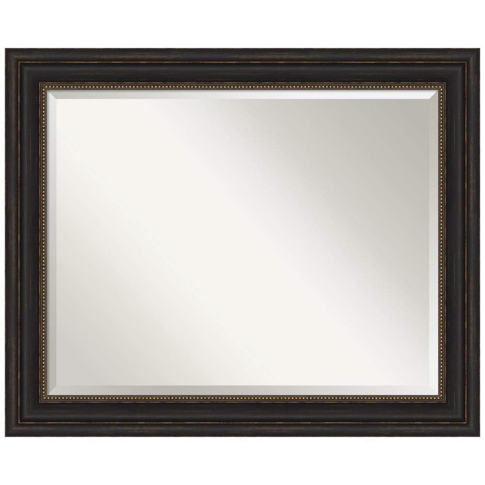 Amanti Art Accent Bronze 33 in. x 27 in. Bathroom Vanity Mirror