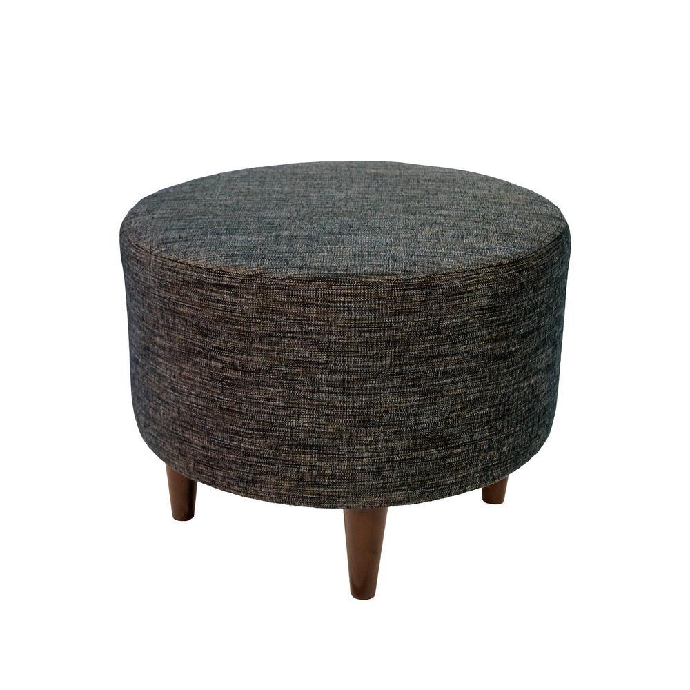 Admirable Sophia Lucky Phantom Round Upholstered Ottoman Ibusinesslaw Wood Chair Design Ideas Ibusinesslaworg