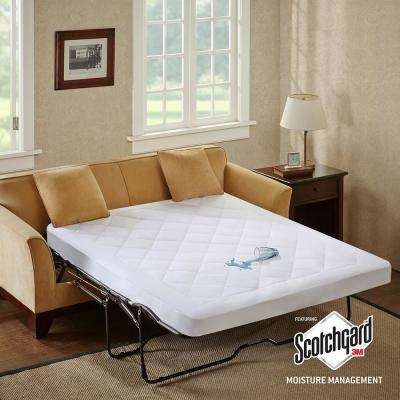 Amity White Queen Waterproof Sofa Bed Mattress Protection Pad with 3M Scotchgard Moisture Management