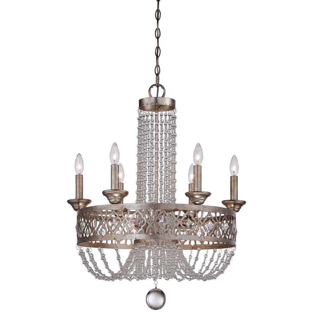 Minka Lavery Lucero 9-Light Florentine Silver Chandelier