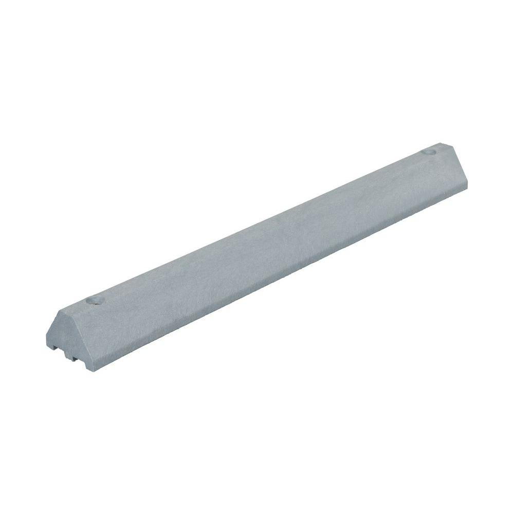 48 in. Recycled Gray Plastic Car Stop