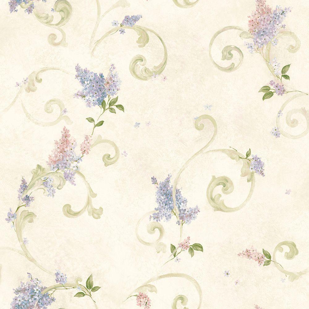 Chesapeake Lilac Blush Acanthus Wallpaper CCB21601 The