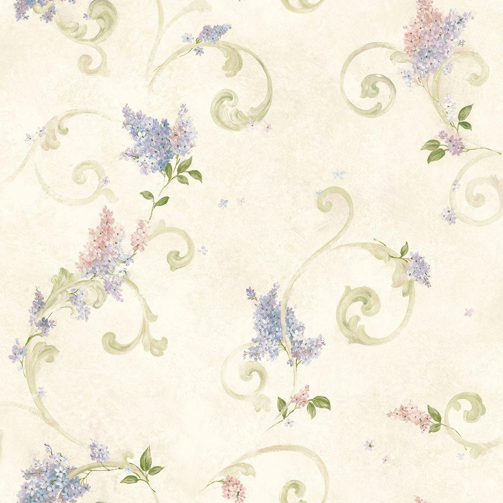Lilac Blush Acanthus Paper Strippable Roll Wallpaper (Covers 56.4 sq. ft.)
